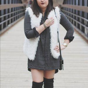 Black Plaid Flannel Dress